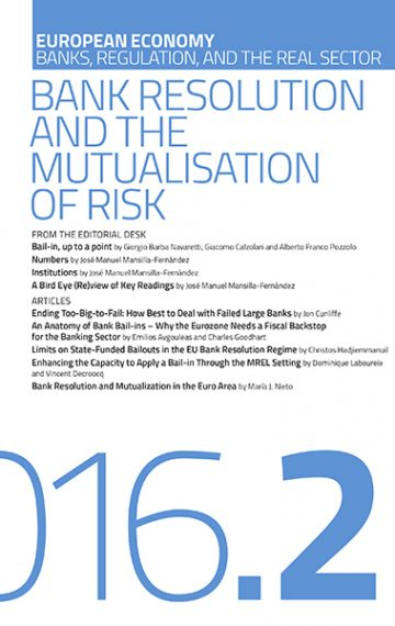 Bank Resolution  and the Mutualisation of Risk