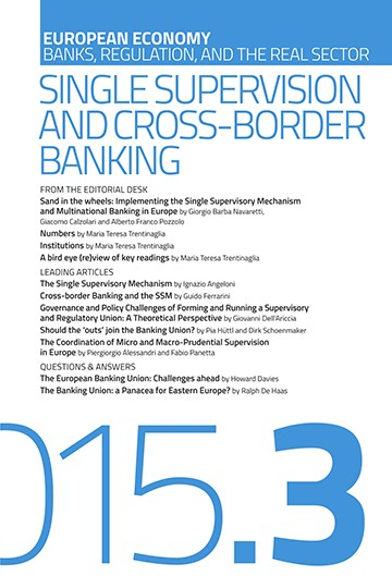 Single Supervision and Cross Border Banking